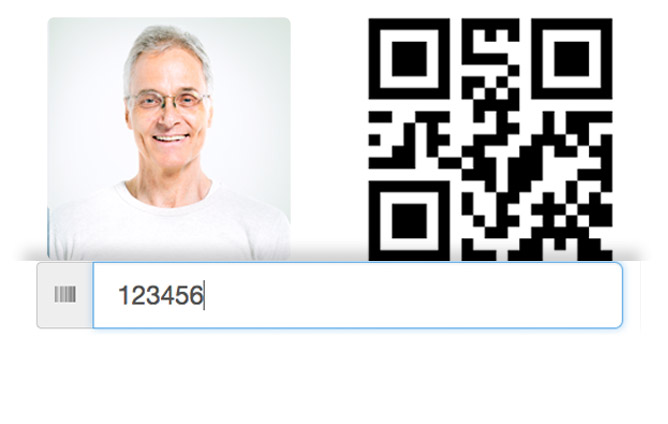 Attendee QR code example