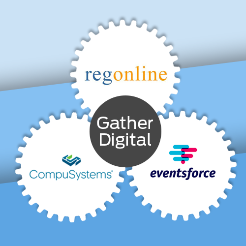 Gather Digital partners with CompuSystems, Eventsforce and RegOnline