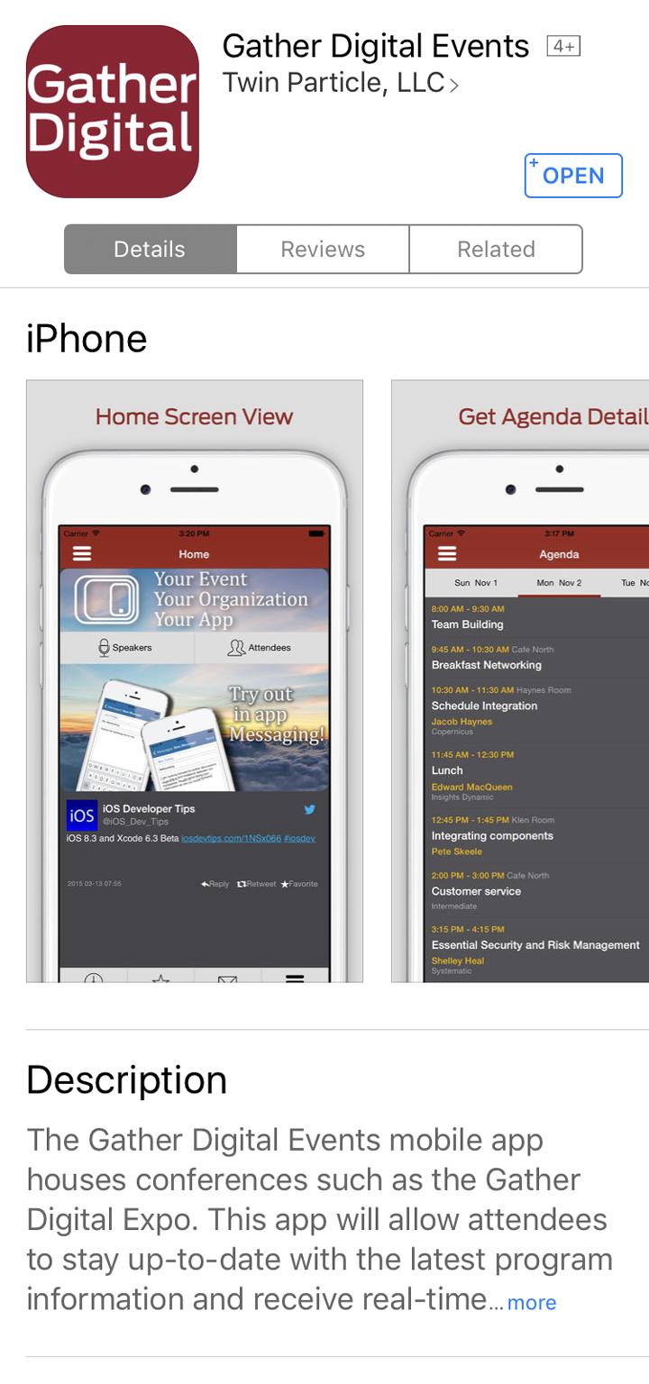 iOS App Store Info Example
