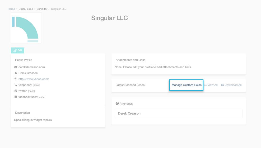 Adding custom fields button