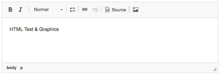 Example of WYSIWYG editor