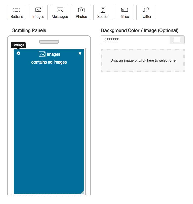 full screen image panel
