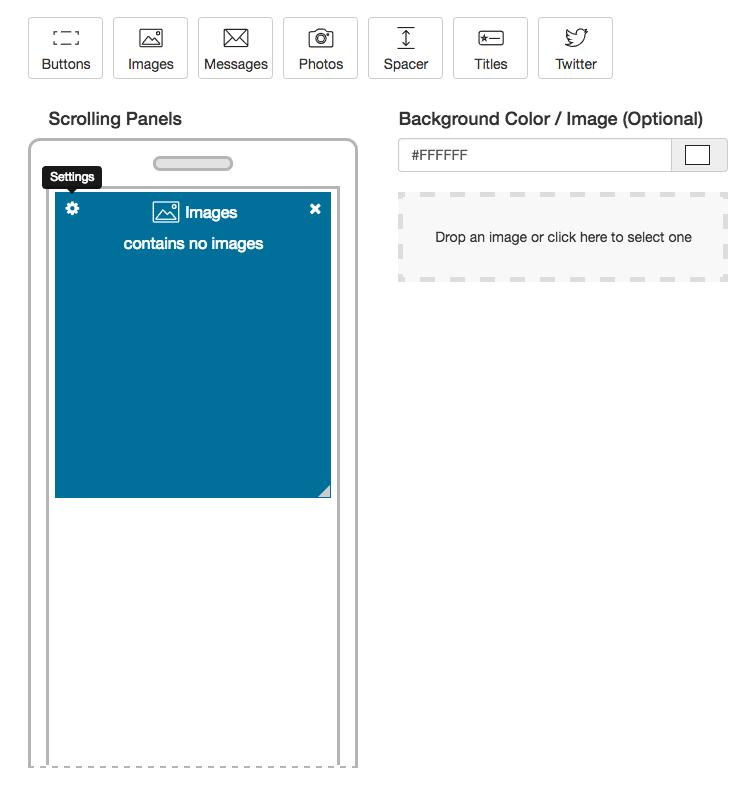 half screen image panel