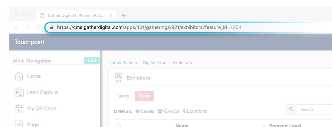 Exhibitors CMS URL