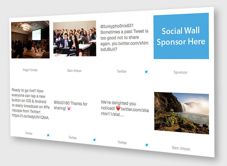 Social Wall Sponsor Images