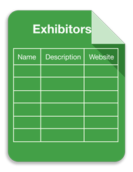 Exhibitor spreadsheet graphic