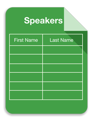 Speaker spreadsheet graphic