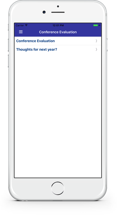Image of a survey listed under general survey button